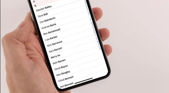 danh bạ iPhone bị mất 1 phần