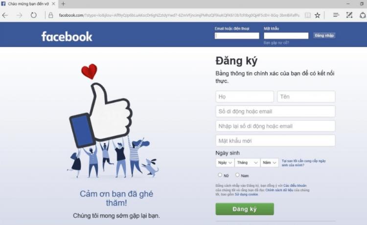 lỗi không hiển thị thông báo trên Facebook