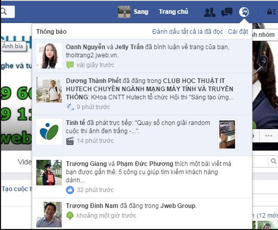 Facebook không hiện thông báo bình luận