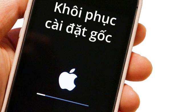 reset điện thoại iphone