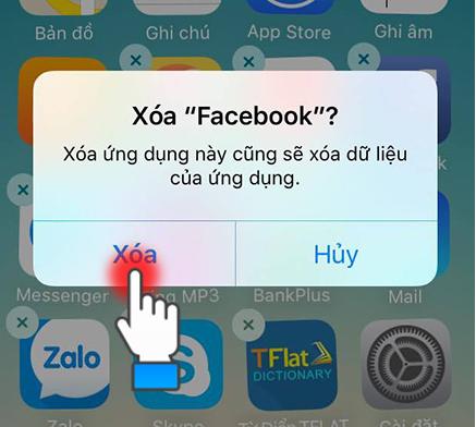 Gỡ cài đặt ứng dụng và tải lại iphone