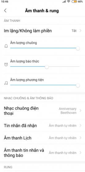 tăng âm lượng cuộc gọi Xiaomi