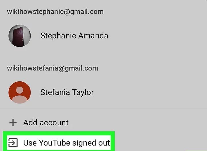 đăng xuất khỏi tài khoản Youtube